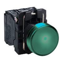 LED-es jelzőlámpa, zöld, 230V