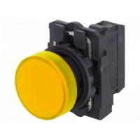 LED-es jelzőlámpa, sárga, 230V